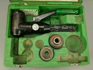 Greenlee 7906sb 7904sb Quick Draw Hydraulic Punch Slugbuster Set 2 Dies