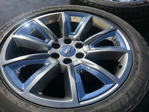 4 Genuine 22 In Wheels Tires Tahoe Suburban Silverado Chevrolet Chevy New Tires