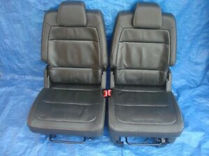 Oem 09 12 Ford Flex 2nd Row Leather Bucket Seats Black