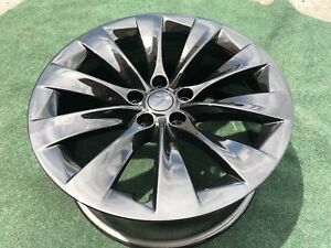 4 Genuine Tesla Model X Factory Wheels Rims Oem 20 Inch Black Rare
