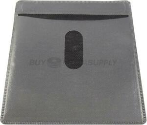 Non Woven Black Color Plastic Sleeve Cd dvd Double sided