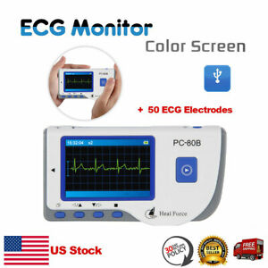 Heal Force Ecg Heart Rate Monitor Cardiac Electrocardiogram 50 Ecg Electrodes