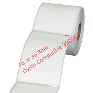 Dymo Compatible 30256 Address Labels 300 per Roll 2 5 16 X 4 16 36 Rolls