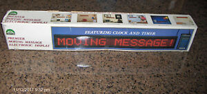 Digital Sign Premier Moving Message Window Display Includes Programming Unit