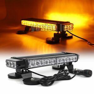15in 30 Led Car Truck Roof Emergency Warning Beacon Flashing Strobe Lights Amber