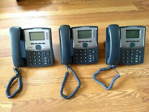 Lot Of 3 Cisco Spa942 Voip Office Phones