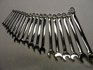 Craftsman Professional Metric Mm Full Polish Combination Wrench Set 19 Pcs