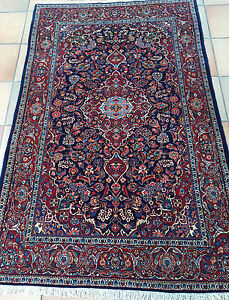 Authentic Hand Knotted Semi Antique Persian Rug Perfect
