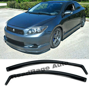 For 05 10 Scion Tc Gen1 Jdm Side Door Window Visors Rain Guard In Channel Vent