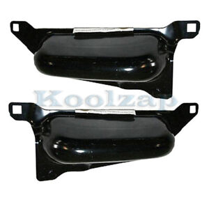 06 08 Ram Pickup Truck Front Bumper Face Bar Lower Retainer Bracket Set Pair