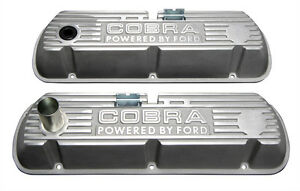Shelby Gt350 Mustang Open Cobra Lettered Tall Valve Covers