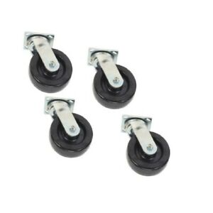 Set Of 4 New Swivel Casters W 8 X 2 Phenolic Wheels And Roller Bearing