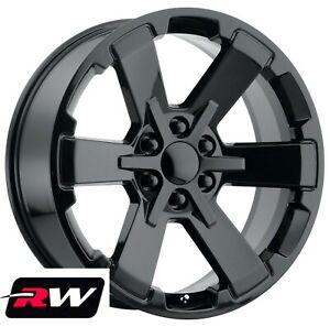 22 Inch 22x9 Rw 5662 Rally 2 Lt Z71 Wheels For Chevy Avalanche Gloss Black Rims