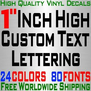Personalized 1 Custom Text Name Vinyl Decal Sticker Car Wall 16x Lettering Max