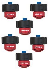 5 Hypro Guardian Air Twin Red Polymer Spray Tips 110 Rated 0 40 Gpm 40 Psi