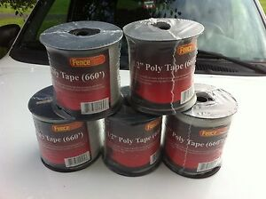 5 Rolls 1 2 Wide Horse Polytape 656 Electric Fence White