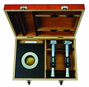 Mitutoyo 468 990 Digimatic Holtest Lcd Inside Micrometer Set 3 4
