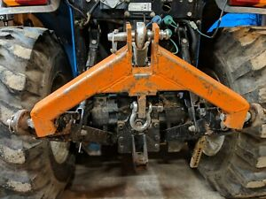 3 Pt Hitch Category 1 Tractor Log Skidder Hauler Orange