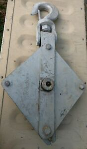 3 Ton Wll Snatch Block Single Wire Rope Sheave H Holland Co