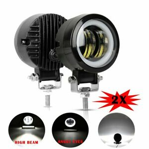 2x 3inch Led Work Light Driving Fog Lamp For Offroad Suv Car Truck Motorcycle