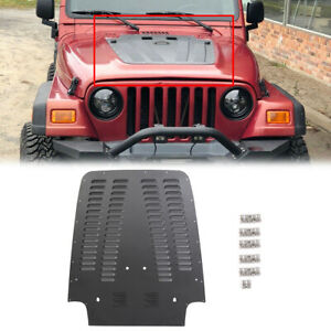 For 1997 2002 Jeep Wrangler Tj Aluminum Vented Hood Louver Black Powdercoat