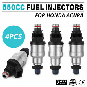 Fine 550cc Fuel Injectors For Honda B16 B18 B20 D16 D18 F22 H22 H22a Vtec Cool
