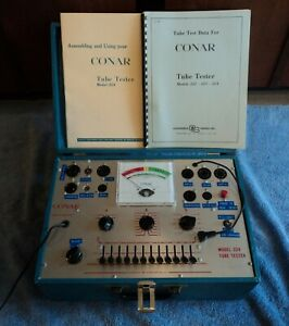Conar 224 Tube Tester Shown Testing Tubes Compactron Novar Great For Fisher Amps