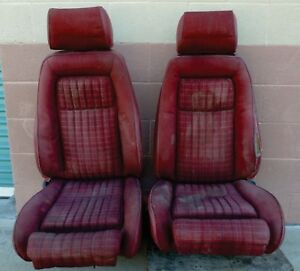 Reclining Bucket Seats W lumbar Full Size Ford Mustang Or