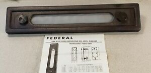 Federal Brass Mfg Co Type 550 14 Flush mounting Oil Level Gauge