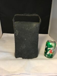 Antique Primitive 1800 S Huge Cow Bell Speculator Hand Forged
