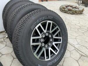 2017 Ford F 350 Oem Aluminum Factory Wheels And Tires 0 Miles On Tires