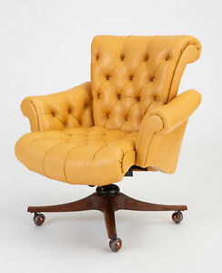 Model 932 In Clover Executive Office Chair By Edward Wormley For Dunbar