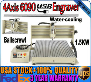 4axis Cnc 6090 Router Engraver Carver Engraving Drilling Machine Wood Er11 Usa