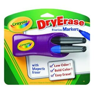 Crayola Dry erase Magnetic Eraser And 2 Dry erase Markers