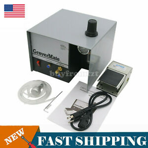 Single Ended Pneumatic Impact Engraving Machine Jewelry Engraver Graver Tool Us