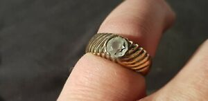 Exquisite Stunning Tudor Ring With Cut White Glass A Must Read Description L97u