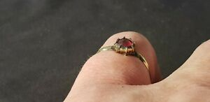 Exquisite Stunning Tudor Ring With Real Ruby A Must Read Description L87w