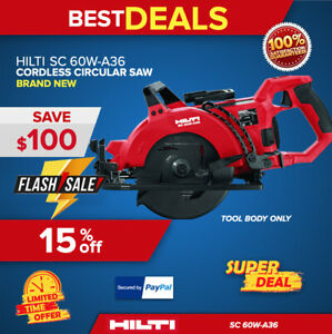Hilti Sc 60w a36 Cordless Circular Saw Tool Body Only Brand New Fast Shipping