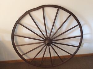 Vintage Large Amish Wagon Wheel