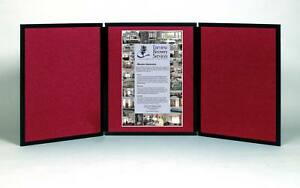 Folding 3 Panel 49 X 20 Wine Tabletop Display For Use With Velcro Hook Tape