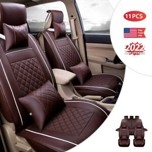 High Quality Car Seat Cover Cushions Full Set 5 Seats Suv Front Rear All Season