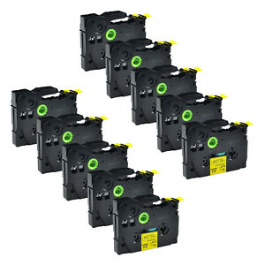 10pk Tz 631 Tz Tze 631 Black On Yellow Label Tape For Brother P touch Pt1180 St5