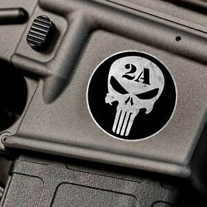 2nd Amendment Gun Sticker Ar15 Skull 2a Emblem For Punisher Iphone Nra 556 Jeep