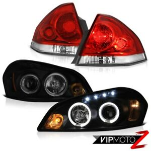 06 13 Chevy Impala Lt Wine Red Tail Lights Smoke Tinted Projector Headlamps Led