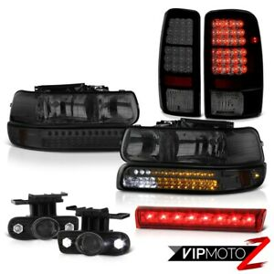 2000 2006 Chevy Tahoe Z71 High Stop Light Smoked Fog Lamps Tail Brake Headlights