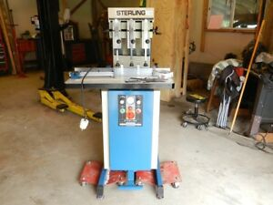 Sterling Model 380 3 Spindle Paper Drill Drilling Hydraulic Machine
