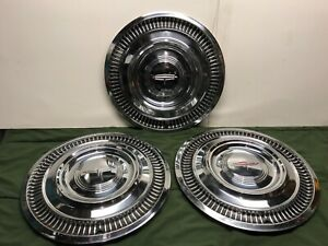 1963 Oldsmobile Dynamic 88 Hubcaps 14 Original Gm 3 Holiday Super 88 Cover