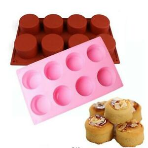 Round Shape Silicone Cake Mold 3D Handmade Cupcake Jelly Pudding -LIN