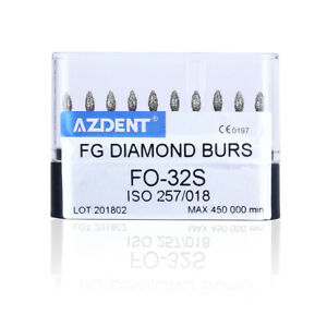Us Dental Diamond Burs Polisher Fo 32s Drills Super Coarse Diamond 10pcs box