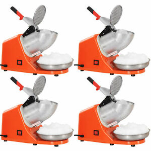 4pcs Electric Ice Crusher Shaver Machine Snow Cone Maker Shaved Ice 143 Lbs